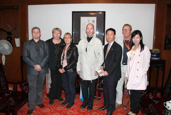 The Delegation of Chinese Icelandic Cultural Society Visited the Shanghai Library
